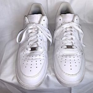 Men's size 13 white leather Nike Air Force 1s